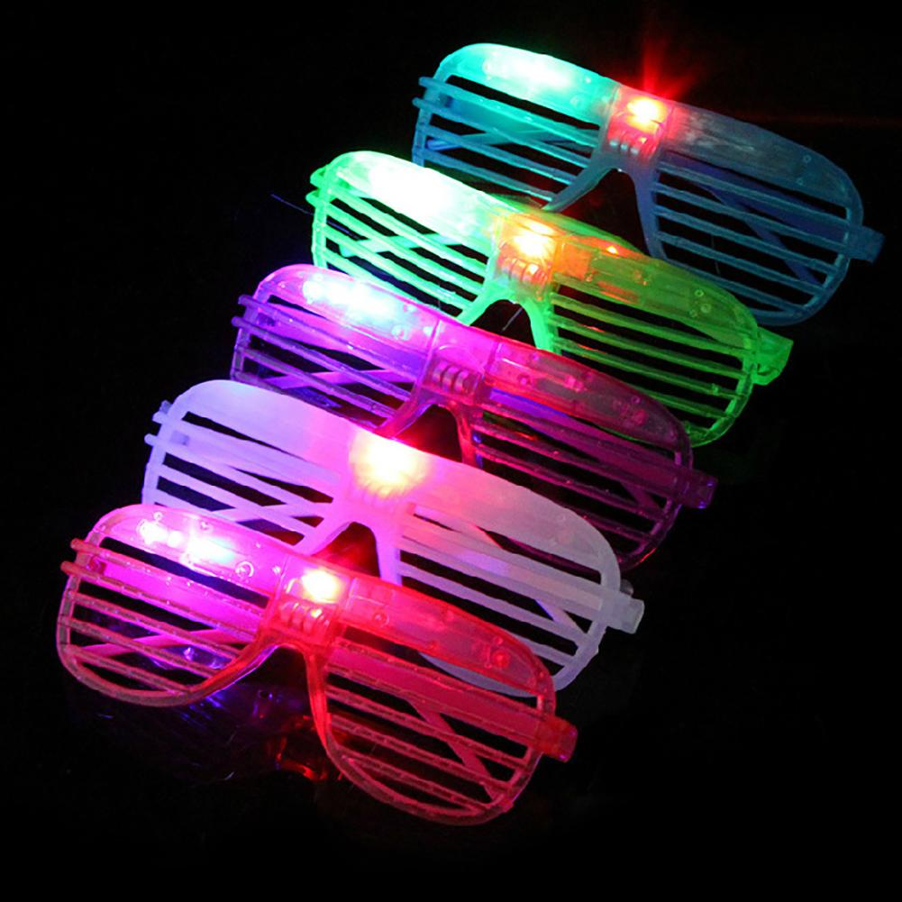 Search For Flights Creative Led Light Up Shutters Hollow Glasses Club Bar Birthday Party Decor