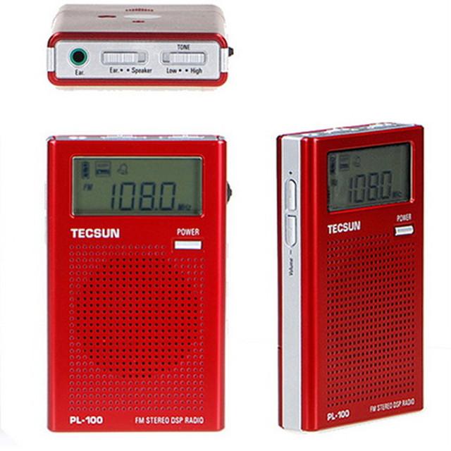 Origital demodulación tecsun pl-100 digital pll fm estéreo dsp pocket radio receptor tecsun radio pl100 portátil envío gratis