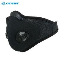 XINTOWN Activated Carbon Haze anti-stof Filter Ademende Bike Fiets Gezicht Cover Bescherming Mond-Moffel Stofmasker
