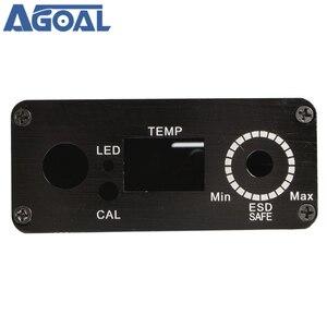 Image 5 - DIY T12 Digital Solderingสถานีเหล็กอลูมิเนียมกรณีเชลล์สีดำสวิตช์ไฟ