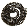 2.4mm de color negro 70 cm Perro Cadenas Tag Grano de la Bola de La Bola Cadena Cadenas Collares Llaveros, cadenas al por mayor de fuentes de la joyería