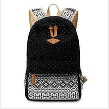 2016 Vintage Designer Women Bag Korean School Backpacks For Teenage Girls Canvas Ethnic Travel Bag Female mochila rucksack