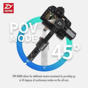 Zhiyun Crane Plus 3 Axis Handheld Gimbal Stabilizer 2.5KG 5.5lb Payload for Sony Panasonic Canon Nikon Fujifilm Dsrls Camera