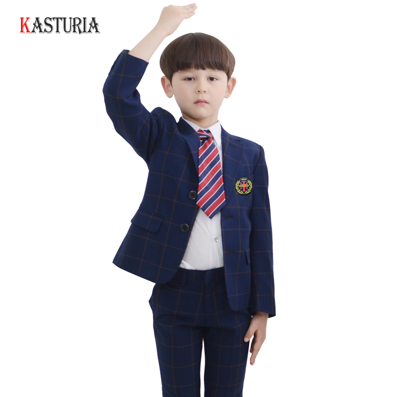 New children suit for Boys blazers plaid boys jackets kids baby formal clothes wedding party outfit coats toddler boy costume boys formal plaid suit wedding clothes fashion children party clothing sets spring autumn baby classic gift costume kid hot sale