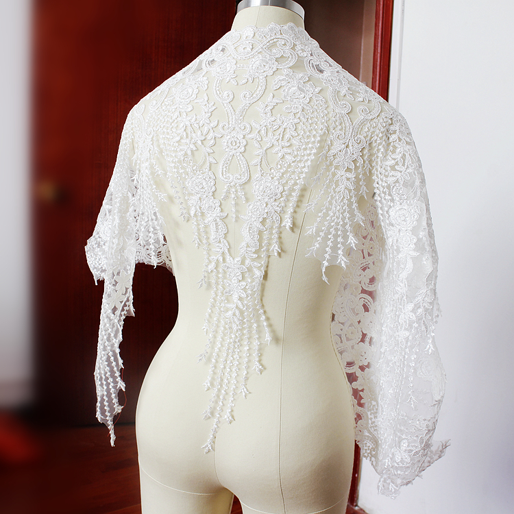 super large sequin alencon lace applique in ivory font b bridal b font font b gown