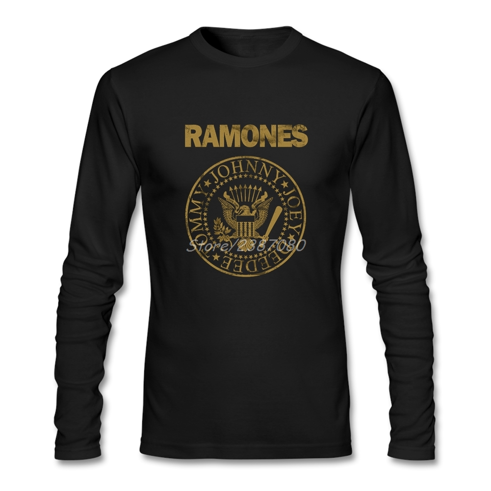Ramones   T     Shirt   Cotton Long Sleeve Custom   T  -  shirts   New Couples Funny   T  -  shirts