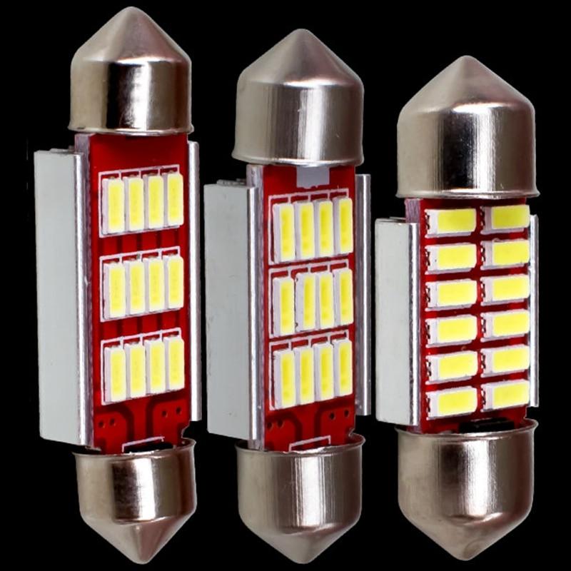 4pcs 42mm 6 SMD COB LED White Festoon CANBUS PLASMA interior bulb 12V DC