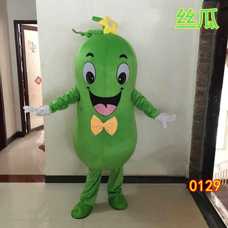 Hot Sale Character Adult Lovely Cucumber Mascot Costume Vegetable Outfit Fancy Dress Halloween Party Costume