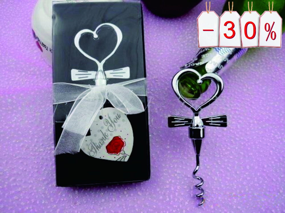 wholesale 100pcslot love heart wine bottle opener wedding souvenirs best gift for guest