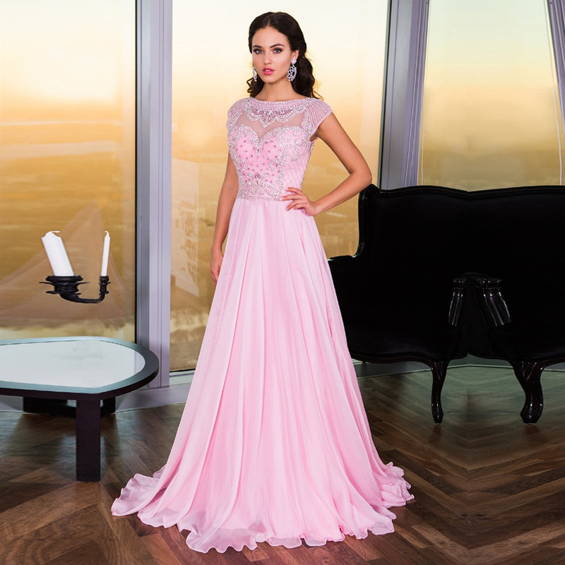 Popular Light Pink Prom Dress with Sleeves-Buy Cheap Light Pink ...