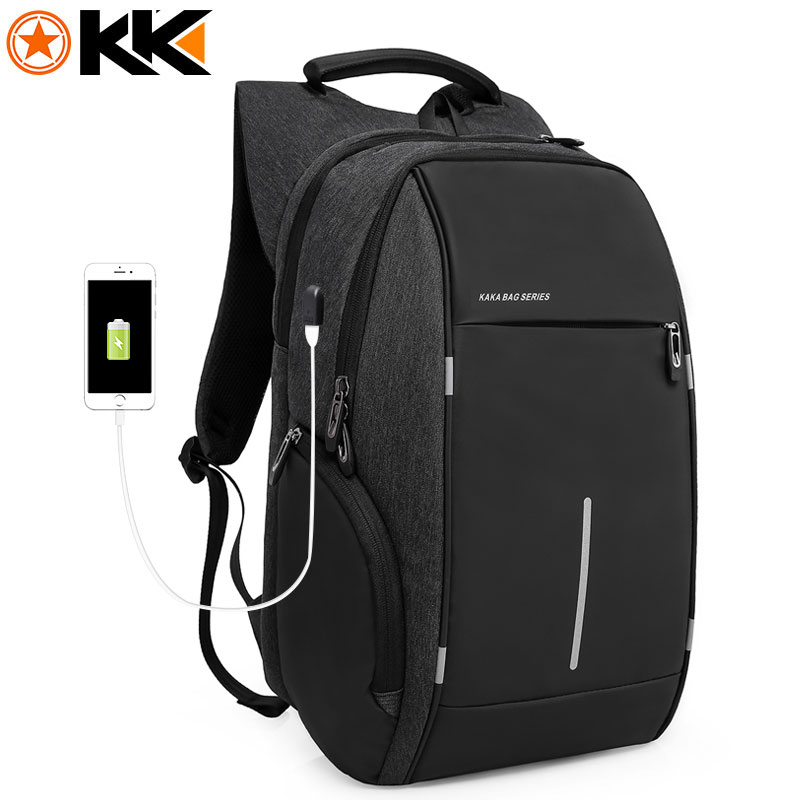 Kaka Brand Backpack Male Casual 15 Inch Laptop Backpack Men Waterproof Usb Anti Theft Backpacks For Teens Youth Mochila Backbag