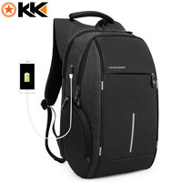 KAKA Brand Fashion Bag Backpack Male Casual Oxford 15 inch Laptop Backpack Black Waterproof USB Anti theft Backpacks mochila