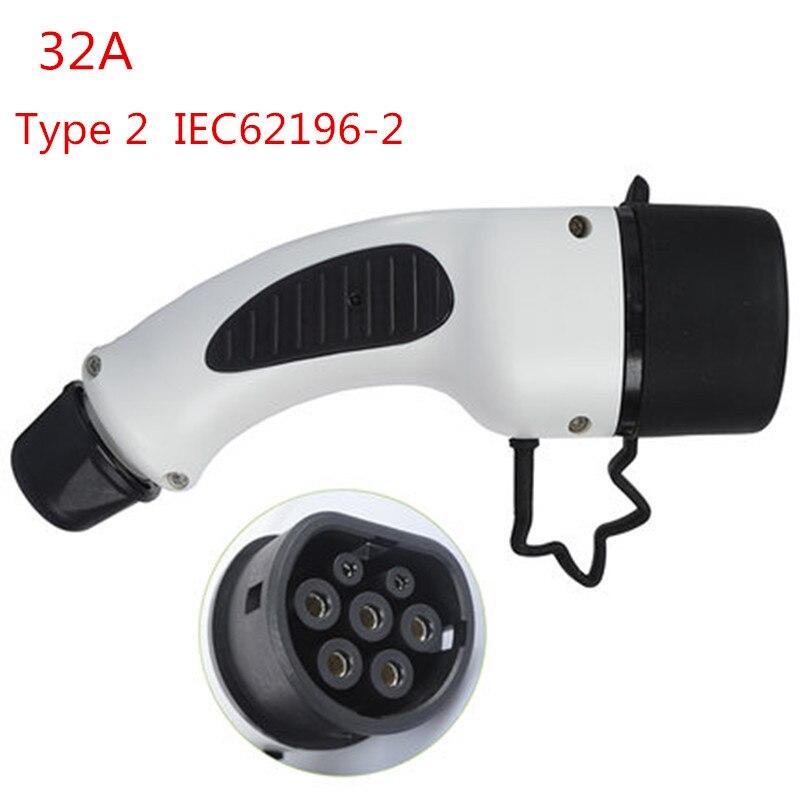 EVSE Type 2 EV prise 32A EV chargeur côté voiture Mennekes IEC 62196-2 norme européenne connecteur femelle voiture électrique charge