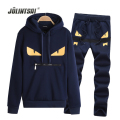 Jolintsai Sportwear Suit Men Print Hoody Hoodies Sweatershirts+Pants Mens Tracksuits Sets 2017 Polo Sweat Suit Moleton Masculino