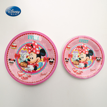 6pcs/lot Minnie Theme Plate Children Festival Party Supplies Baby Shower Decoration  Paper Party Plates Supplies 6pcs festival party supplies christmas tree hanging stars decoration