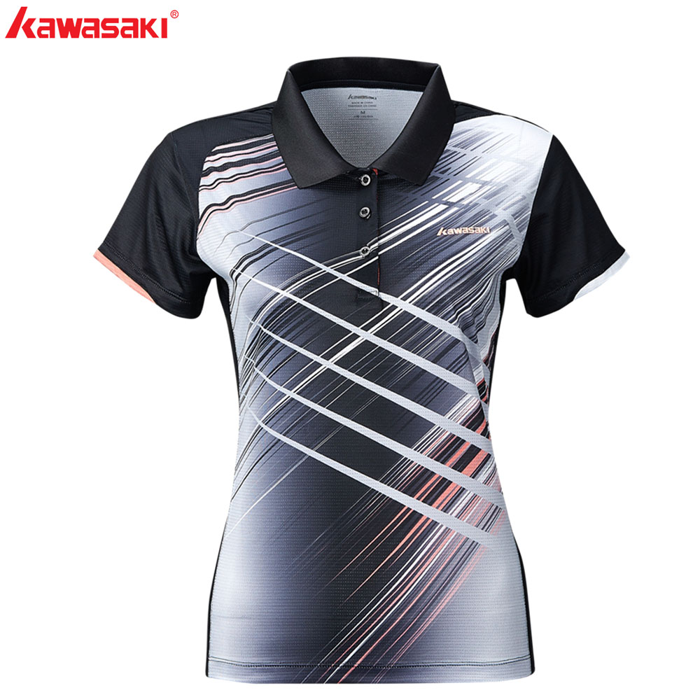 KAWASAKI Brand Men Women T-Shirts Short Sleeve Quick Dry Couple Tennis Shirt Sports wear For Men Gym Clothing ST-S1106 ST-S2106