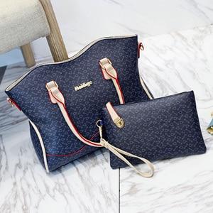 Image 2 - 2020 Nieuwe Vrouwen Lederen Handtassen Mode Schoudertas Vrouwelijke Portemonnee Hoge Kwaliteit 6 Stuk Set Designer Merk Bolsa feminina