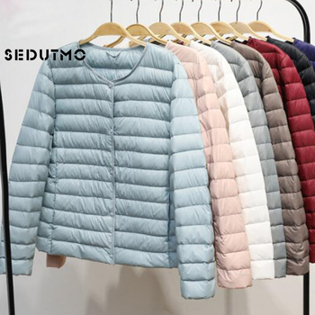 SEDUTMO Winter Women Duck Down Jacket Ultra Light Coat Short Autumn Slim Casual Puffer Outwear ED617 1