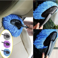 Multifunction Brush Car Dust Vehicle Auto Car Truck Cleaning Wash Brush Dusting Tool Microfiber Duster Purple