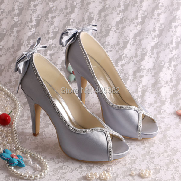 Wedopus Customized White Women Pumps Bridal Wedding Shoes High Heeled with Back  Bowtie-in Women s Pumps from Shoes on Aliexpress.com  30f67bac83c8