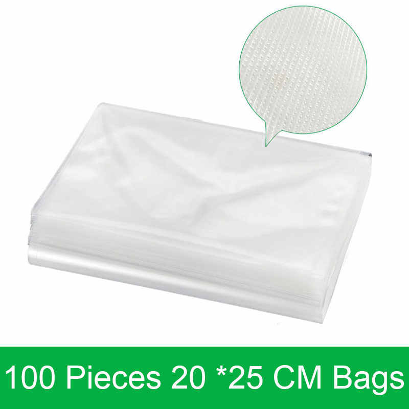 100 adet/grup 20*25 CM vakumlu ambalaj makinesi yiyecek çantası 20*25 CM vakumlama makinesi Paketleme Makinesi Çantası Oluklu kolay gözyaşı