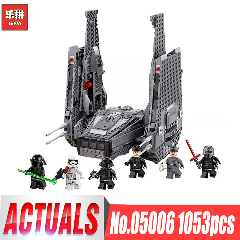 Lepin 05006 Star Kylo Ren Command Shuttle Building Blocks Wars Educational Toys Compatible legoinglys 75104 Birthday Gifts Toys