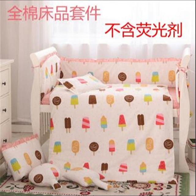 Sistema del Lecho Del Bebé 100% algodón Bebé Juego de Cama para Niño ropa de Cama de La Muchacha Del Muchacho de Algodón Edredón