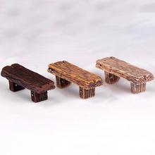 Wooden Bench Dolls House Miniature Garden Furniture Accessories(China)