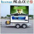 Leeman outdoor programmable led signs advertising P10 led video display for mobile truck and trailer bot sale in Leeman Group