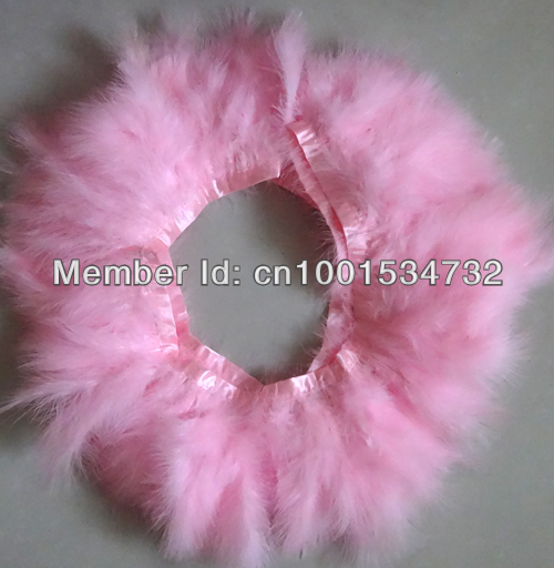 Free Shipping 6Yards 15-18cm width Pink Turkey Feather trim for Skirt Dress AAA quality for Carnival showgirl customes