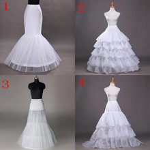 White Hoop Crinoline Long Wedding Bridal Petticoat Ball Gown Skirt Dress Underskirt Accessories