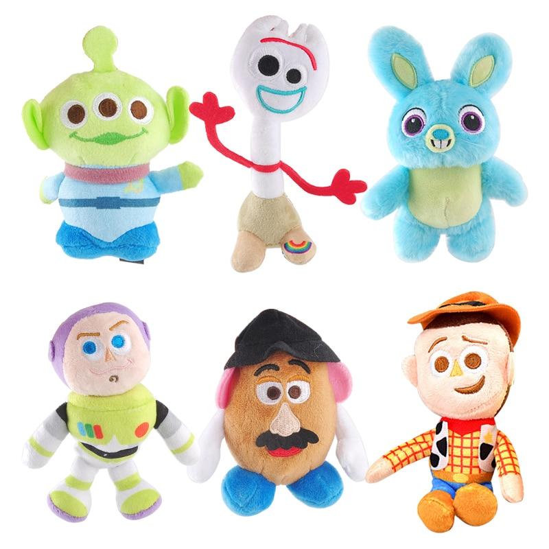 NEW Disney Pixar Toy Story 4 Plush Forky Woody Bunny Alien Buzz Lightyear Potato Head Stuffed Plush Doll Toy For Children Girls