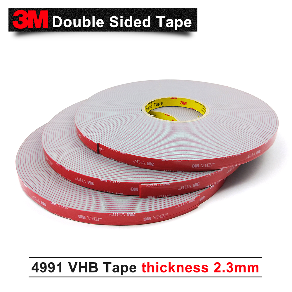 Shipping by DHL/FedEx/UPS/ 3M VHB 4991 grey acrylic double sided foam tape 25mmx16.5m /15% OFF if 2pcs/We can offer other size 3m double sided tape vhb 4991 acrylic adhesive tape outstanding durability performance 20mm 16 5m 5rolls we can offer other size