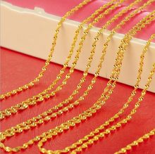 60cm long yellow gold color Miami cuban snake chain for men women 24 inches 2mm 5g thin long gold necklace & pendant(China)