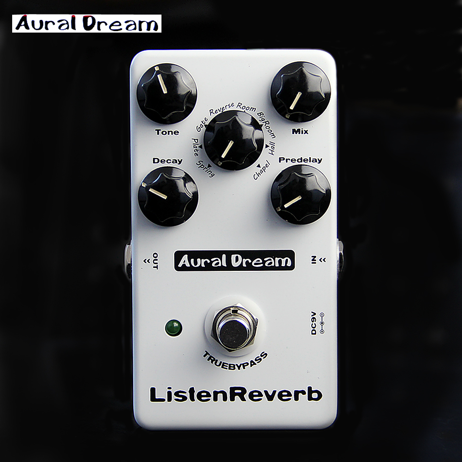 Aural Dream Listen Reverb True Bypass Digital Reverb Effects Pedal for Electric Guitar with 8 Reverb Effects kcg057qv1db g50 lcd screen tested good for shipping
