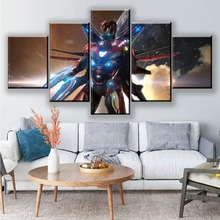 5 Piece Painting Canvas Wall Art Avengers Endgame Movie HD Print Decor Home Living Room Animal Artwork