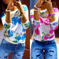 Sping Cute Women's Long Sleeve Shirt Casual Pullover Blouse Loose Tops