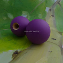 Виноградные резиновые, фиолетового цвета шар Kendama$1,50, 6 см шар Kendama из бука, резиновая краска, подходит для 18 см Kendama