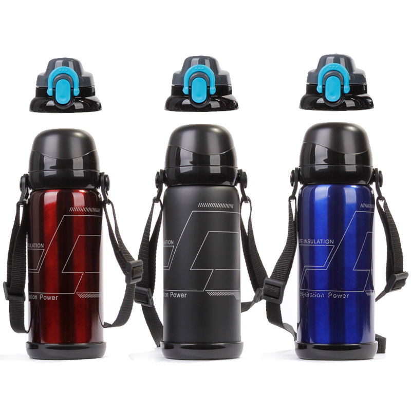 Hot Classic 800ml Thermal Insulation Water Bottles 304 Stainless Steel Applicable With Straps Rope Portable For Tour