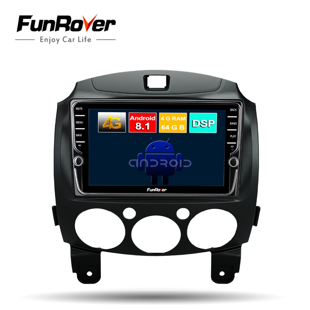 Funrover android 8.1 2 din car dvd multimedia player for mazda 2 2007-2014 car radio gps navigation stereo wifi DSP Octa 8 coresFunrover android 8.1 2 din car dvd multimedia player for mazda 2 2007-2014 car radio gps navigation stereo wifi DSP Octa 8 cores