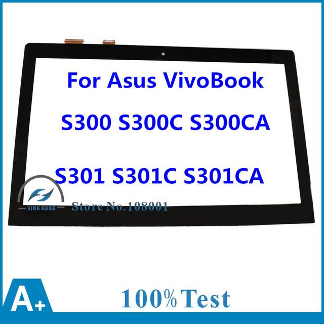 13.3 pulgadas de pantalla táctil de cristal digitalizador lente de repuesto para asus vivobook s300 s300c s300ca s301 s301c s301ca da5308ra