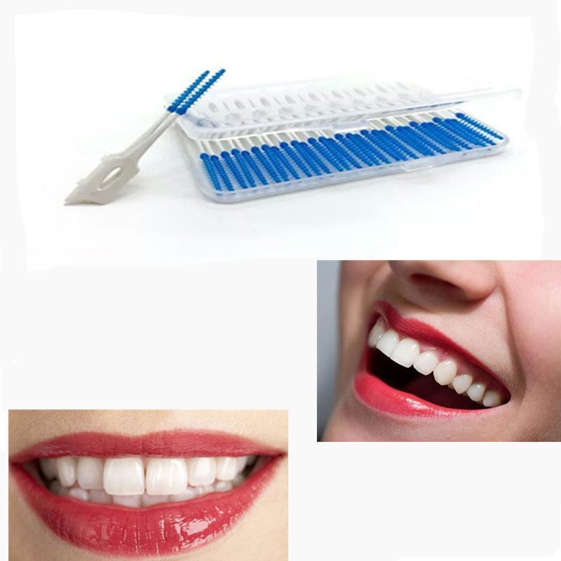 40PCS Silicone Dental Floss Interdental Brush Teeth Stick Dental Flosser Toothpick Soft Floss Pick Oral Hygiene Tooth Cleaning