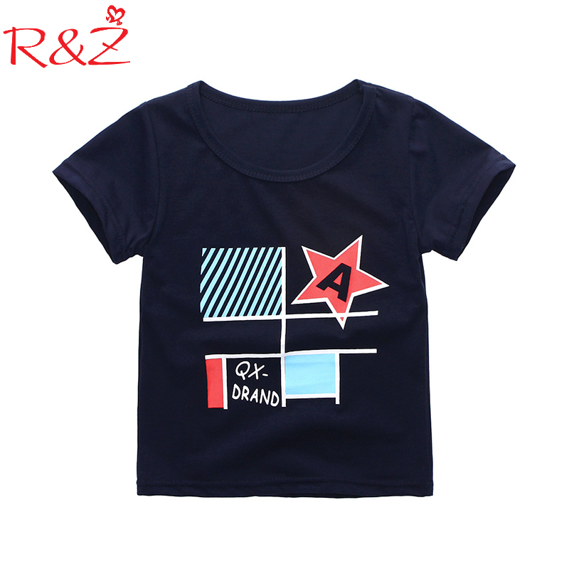 Boys T-Shirts Clothing Short-Sleeved Print Girls Cotton Children's Summer New And O-Neck