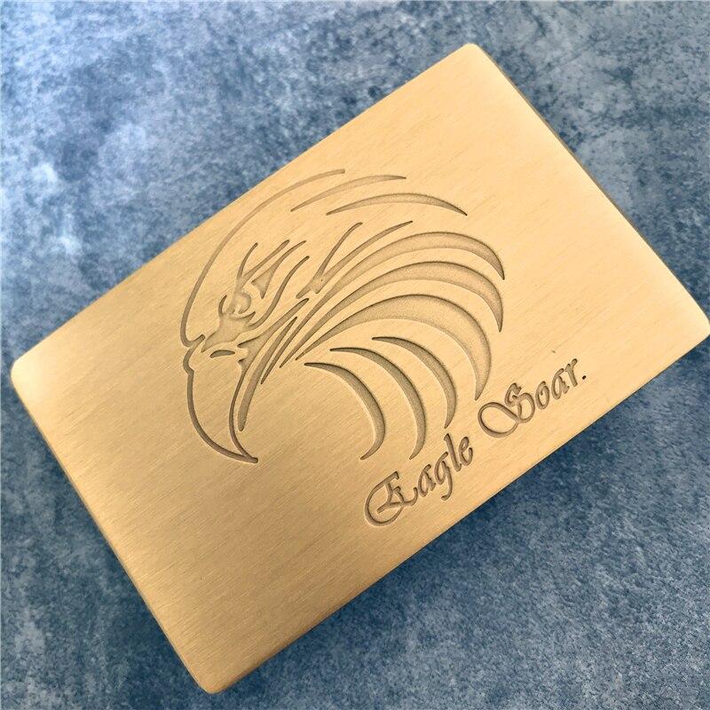 TOP Quality Eagle Head Belt Buckle Luxury Solid Brass Diy Accessories Belt Buckle For Men Leather Belts BK0084