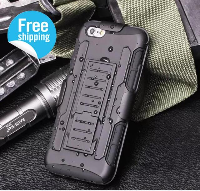 For Iphone 6 Plus Armor Cases Shockproof Hybrid Covers Belt Clip Holster Stand Rugged Case Cover
