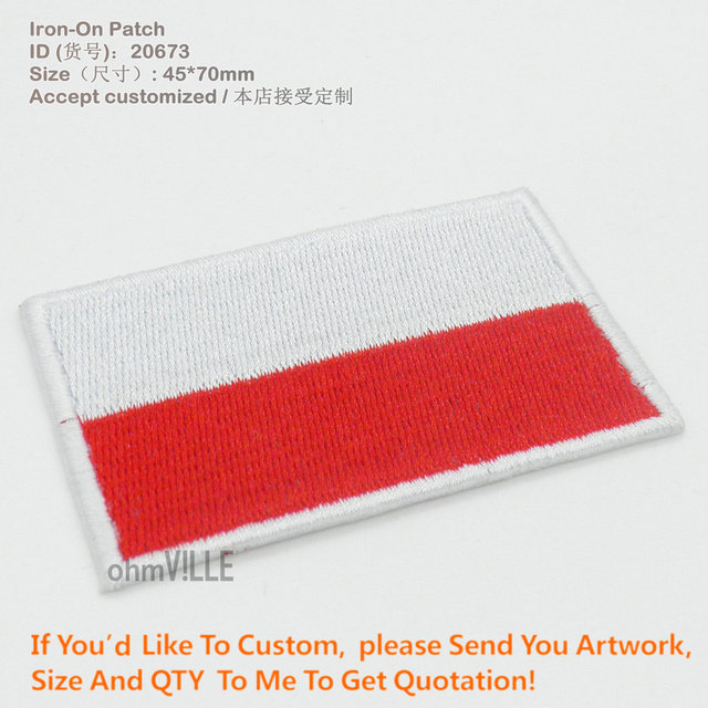 Hot Sale ! Embroidery Patches National flag Emblem Patches South Africa  Flag Iron on 7X6CM NGQ1136
