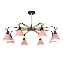 Creative pendant light Antler living room decoration macarons pendant lamps decorative macaron colorful bedroom lamp lighting стоимость