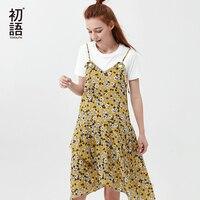 Toyouth Floral Summer Dresses Women Boho Beach Dress 2018 New Sexy V Neck Sleeveless Strap A