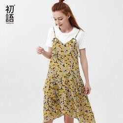 Toyouth Floral Summer Dresses Women Boho Beach Dress 2018 New Sexy V Neck Sleeveless Strap A Line Dress Casual Lady Dress