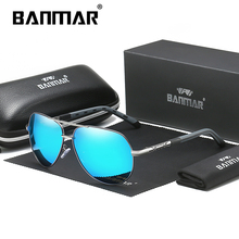 BANMAR Aluminum Magnesium Mens Sunglasses Men Polarized Coating Mirror Glasses Oculos Male Eyewear Accessories Shades For